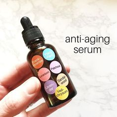 My new favorite anti-aging serum🤩This may seem like an insane amount of essential oils (and you cert Essential Oil Spray, Making Essential Oils, Essential Oils For Sleep, Essential Oil Perfume, Deodorant Recipes, Homemade Deodorant, Natural Deodorant, Homemade Makeup Brush Cleaner, Serum
