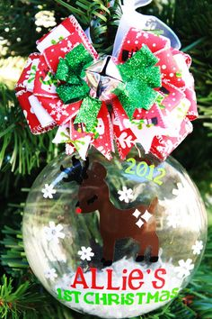 Baby's First Christmas Ornament Personalized by frecklefoxboutique, $24.99