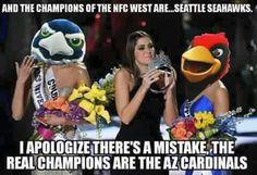 Arizona Cardinals 2015 NFC West Champions #BirdGang #AZLadyBirds