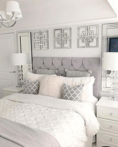 Resourceful understood bedroom decor simple try this - Resourceful understood bedroom decor simple try this You are in the right place about home decor liv - Grey Bedroom Design, Grey Bedroom Decor, Teen Bedroom Designs, Stylish Bedroom, Room Ideas Bedroom, Classy Teen Bedroom, Classy Bedroom Decor, Grey Bed Room Ideas, Bedroom Inspo Grey