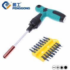 Multi Tool Screwdriver Set Magnetic Telescopic Rod Ratchet Screwdriver Torx/Hex Bits T Wrench Hand Tools 17pcs //Price: $37.00 & FREE Shipping //     #Electronics