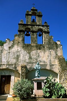Mission San Juan Capistrano, CA where people come to greet the return of the Swallows each Spring....