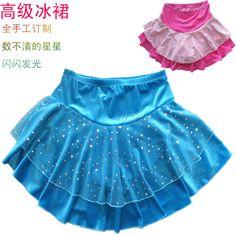 Glace enfant jupe courte vêtements de patinage sur glace robe jupe courte(China (Mainland))