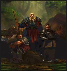Dwarves - wip2 by Grosnez