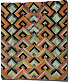 Visual Systems: The Quilter's Eye.   'Art Deco' by Francoise Barnes, circa 1980