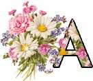 Flowers Alphabet Graphics and Animated Gifs