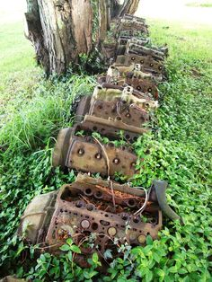 Engine Graveyard - kinda wish I knew where this was... And they are all flat…