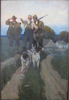 N. C. Wyeth (1882-1945) Over Yonder 1909 Oil on canvas, 42 1/4 x 28 1/2 in. [107.3 x 72.4 cm.]
