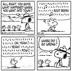 #peanutsspecials #pnts #schulz #snoopy #woodstock #town #rootbeers