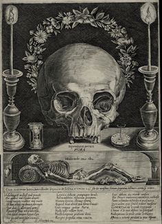 Wilhem Altzenbach (?- c.1680) - Memento mori - gravure