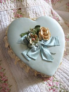 Pretty vintage heart chocolate box