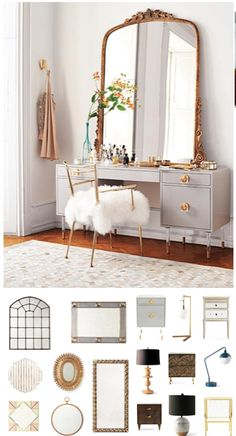 Mirror Decoration You Will Love. Mirror Decoration You Will Love. In interior design, a mirror can be something that has magical power. The mirror can brighten a room that feels dark,. Sweet Home, Sweet 16, Anthropologie Home, Home Bedroom, Girls Bedroom, Bedrooms, Master Bedroom, Bedroom With Vanity, Mirror Bedroom