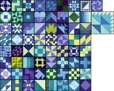 The January and February blocks for the 365 Challenge quilt are finished, except for the part of the center block that we already received the instructions for. It will be made in warm colours. 65 …
