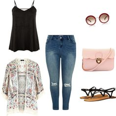 A fashion look from November 2015 featuring New Look jeans and Fergalicious sandals. Browse and shop related looks. Summer Outfits Women 20s, Winter Fashion Outfits, Trendy Outfits, Chill Outfits, Women's Fashion, Fashion Women, Plus Size Womens Clothing, Plus Size Outfits, Plus Size Fashion