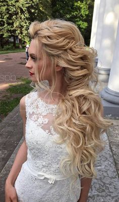 awesome 86 Beautiful and Easy Wedding Hairstyle for Long Hair  https://viscawedding.com/2017/06/06/86-beautiful-easy-wedding-hairstyle-long-hair/