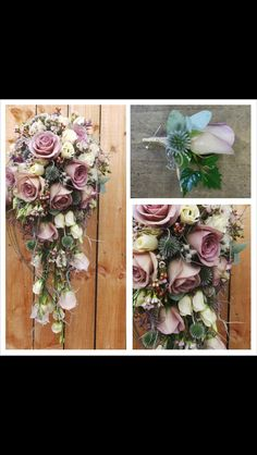 Bridal bouquet - My Wedding - #Amnesia Rose, Heather, Ivy, Thistles by Flowers4 (Worthing)