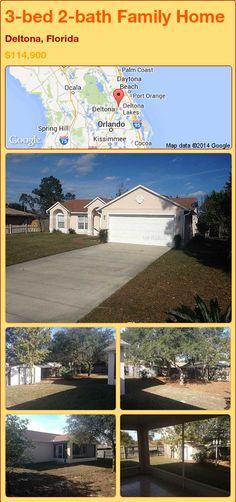 3-bed 2-bath Family Home in Deltona, Florida ►$114,900 #PropertyForSale #RealEstate #Florida http://florida-magic.com/properties/88424-family-home-for-sale-in-deltona-florida-with-3-bedroom-2-bathroom