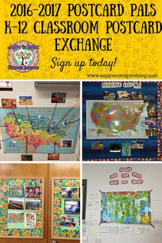Now through 8/20/16, sign up to participate in a classroom postcard exchange for the 2016-2017 school year!
