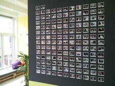 chalkboard +Polaroid = wall