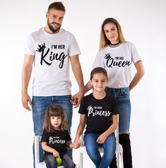 King Queen Family, Prince Princess, Matching Shirts. These bestseller shirts are a perfect outfit for you and your loved ones. Get yours now!