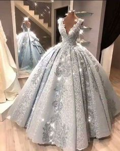 Ball Gown Prom Dress With Lace Beads Floor-Length Silver Gray Quinceanera Dress . Ball Gown Prom Dress With Lace Beads Floor-Length Silver Gray Quinceanera Dress Sweet 16 Dresses fo Princess Prom Dresses, Cute Prom Dresses, Sweet 16 Dresses, Plus Size Prom Dresses, Dream Wedding Dresses, Wedding Gowns, Princess Ball Gowns, Cinderella Wedding Dresses, Colorful Wedding Dresses