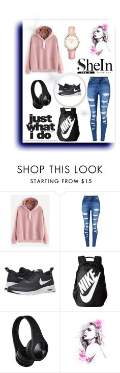"""Sheln"" by amila-lugavic ❤ liked on Polyvore featuring WithChic, NIKE and Topshop"