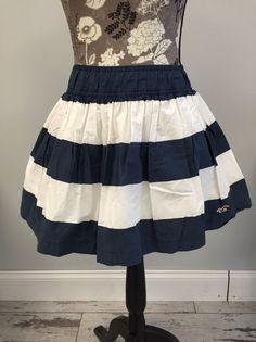 Size Small Hollister Striped Nautical Skirt  | eBay