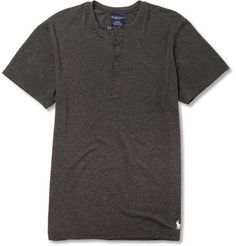 modal (soft and slightly stretchy) henley. a slight step up from a basic tee