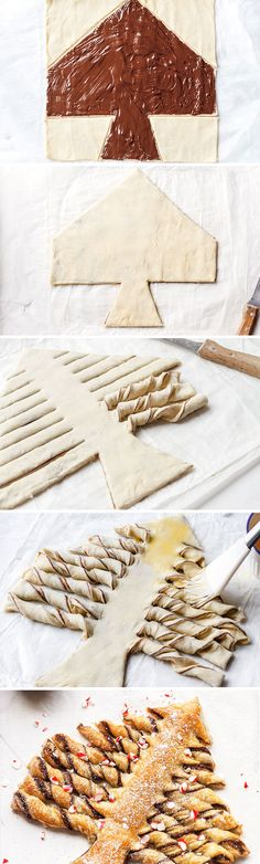 Nutella Christmas Tree Puff Pastry - Crunchy and super indulgent, a show-stopping treat that everyone will love! Ideal for Christmas parties.