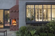 A House with a Modern Twist in Portland, Oregon Interior designer Jessica Helgerson completely remodels a family home without losing i. Architectural Digest, Herringbone Wood Floor, Grey Exterior, Exterior Paint, Pretty Room, Brick Fireplace, Architecture Details, Victorian Architecture, New Homes