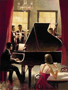 Brent Heighton Piano Jazz art painting for sale; Shop your favorite Brent Heighton Piano Jazz painting on canvas or frame at discount price. Piano Jazz, Jazz Music, Arte Jazz, Jazz Art, Poster Jazz, Motif Music, Jazz Painting, Piano Lessons For Beginners, Canadian Painters