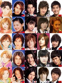 Cast members for Boys Over Flowers from different nationalities. I liked the korean version the most