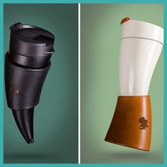 Creative Goat Horns Shaped Mug Coffee Insulation Vacuum Stainless Steel Thermos Cup Flask Drinkware Travel Cup Botella De Agua