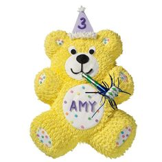 Birthday Bear Cake  - Give a toot to get the party started! The Birthday Bear Cake let's you customize your cake with name and number in the...