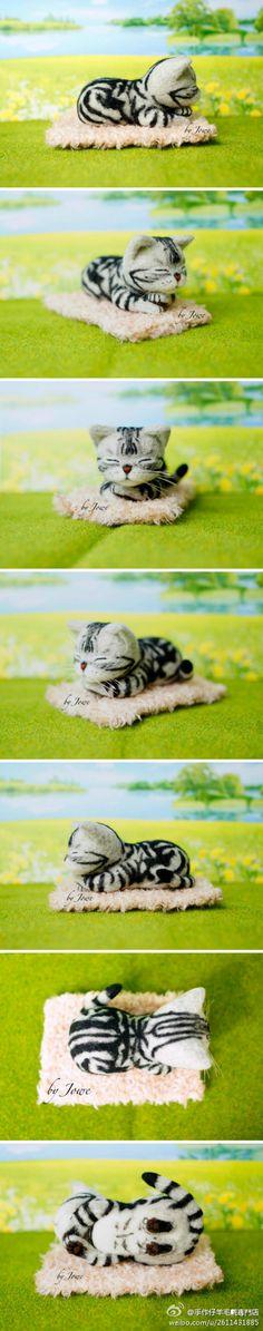 Felt cat