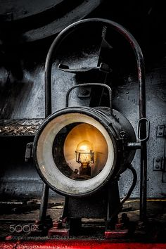 A Small Light by MichaPx with redtravellightoldtrainblackbulbsteamtechnologylight bulbsteam enginesteam trainelectric bulbElbing50 3616-5