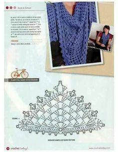Chal scarf crochet pattern
