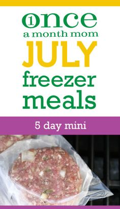Freezer Menu - 5 recipes, a couple hours - eat for a week. Grocery lists, recipe cards, instructions and more.