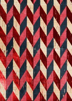 & Other Stories   Cork And Leather Chevron Clutch