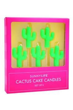 Don't take yourself too seriously by taking your birthday celebrations to the next level with this Set of Five Cactus Cake Candles