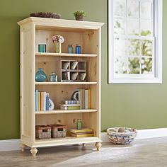 Simple and stylish bookcase woodworking plan. Avoid the big-box store and track down some finish-grade white pine (solid and plywood) for this bookcase and you'll find the results stunning.
