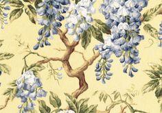 Portfolio Fabric Woodbury Yellow Blue Green Damask  Cotton Drapery Upholstery   #Portfolio