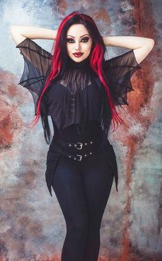 dea4438a04f05 Necessary Evil Medeina Bat Wing Cape Fashion Clothes