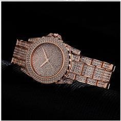Top Brand Luxury Women Dress Watch Rhinestone Ceramic Crystal Quartz Watch