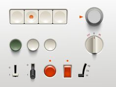 small user interface set from Braun products made during the 60' mostly.   huge credit to D.Rams a living legend.