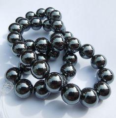 Hematite Round Black Beads Semi Precious Gemstone Beads for Jewellery Making Jewelry Making Beads, Jewellery Making, Semi Precious Gemstones, Round Beads, Gemstone Beads, Beaded Bracelets, Detail, Board, How To Make