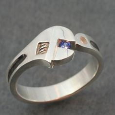 Interesting, maybe a wedding option for or to a mechanic? Wrench wedding band with genuine sapphire. Natural Sapphire, Blue Sapphire, Sapphire Band, Sapphire Wedding, Real Gold Jewelry, Unique Jewelry, Etsy Jewelry, Custom Jewelry, Jewellery