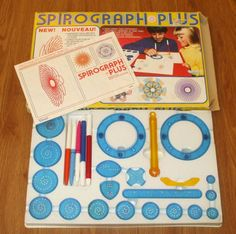 Vintage 1980s Kenner Spirograph Plus with Gyro by LittleSewingBird