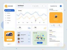 Project Management Dashboard, Motion App, Dashboard Design, Mobile Design, Daily Task, Projects, Track, Design Inspiration, Website