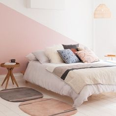 #repost @madedotcom #welovenew Soft pink on the wall and in the accessories help to create a warm, cosy and inviting space - perfect for a bedroom. #bedroom #bedrooms #bedroomdecor #homedecor #interiors #interiordesign #homeinspiration #homeideas